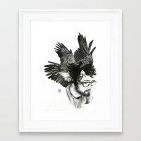 christian schloe Framed Art Prints featuring Christian by Guillem Bosch