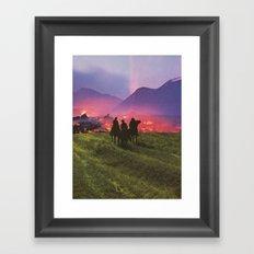 Three Riders Framed Art Print
