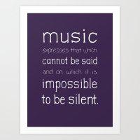 Music Expresses Art Print