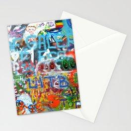 grafitti wall Stationery Cards