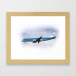 KlM Embraer 190 Art Framed Art Print