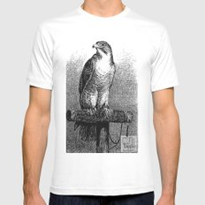 Peregrine Falcon White Mens Fitted Tee MEDIUM
