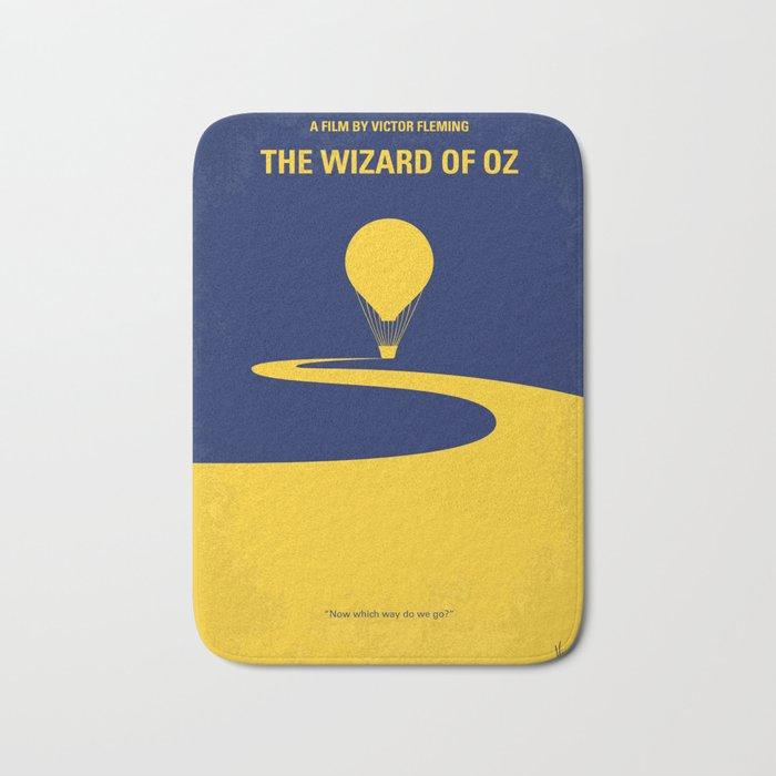 No177 My Wizard minimal movie poster OZ Bath Mat