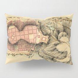 Map Of Montevideo 1808 Pillow Sham