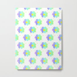 Blossom Repeat Metal Print
