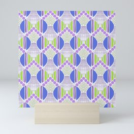 Spring vibes dots and lines variations Mini Art Print