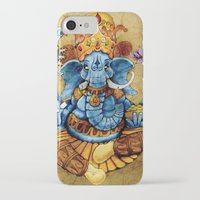 ganesh iPhone & iPod Cases featuring Ganesh by RICHMOND ART STUDIO