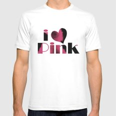 Dusky Pink Mens Fitted Tee White MEDIUM
