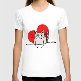 Cat Heart Love T-shirt