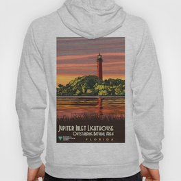 Vintage Poster - Jupiter Inlet Lighthouse Outstanding Natural Area, Florida (2015) Hoody