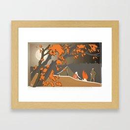 Russian Campfire Framed Art Print