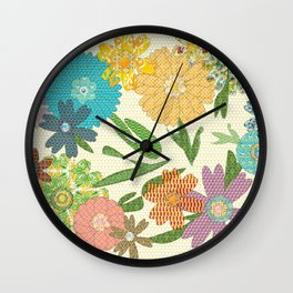 Flower Gardens Wall Clock