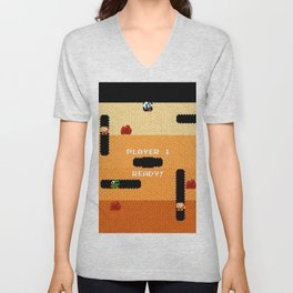 Dig Dug Classic Game Unisex V-Neck