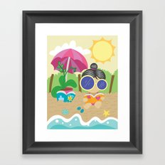 Tips on growing an orchid! - Step one: Indirect light. Framed Art Print