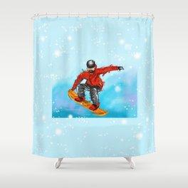 snowborder1 Shower Curtain
