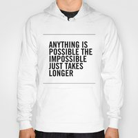 typo Hoodies featuring Typo by giupic