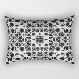 Shibori black stripes crosses Rectangular Pillow
