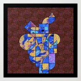 Art History Geometry: Van Gogh & Klimt Art Print