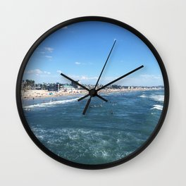 PB Beach Wall Clock