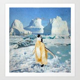 Penguin Chick In The Arctic Art Print
