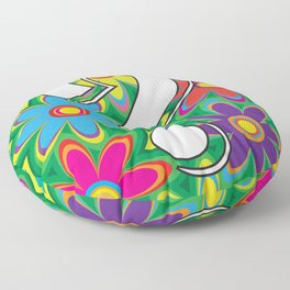 Psychedelic Question Mark Floor Pillow