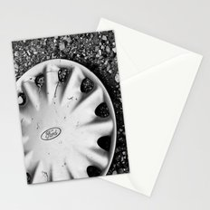 Hubcap B&W Stationery Cards