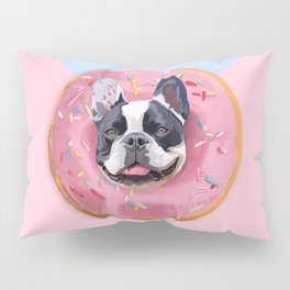 French Bulldog Donut Pillow Sham