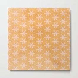Asterisk Small - Tangerine Metal Print