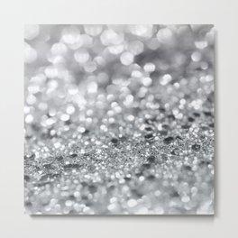 Silver Gray Lady Glitter #1 #shiny #decor #art #society6 Metal Print