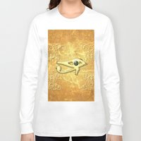 all seeing eye Long Sleeve T-shirts featuring The all seeing eye by nicky2342