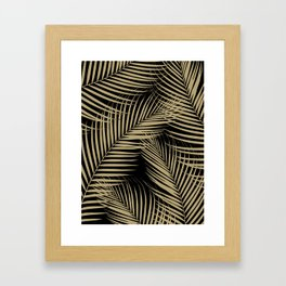 Palm Leaves - Gold Cali Vibes #2 #tropical #decor #art #society6 Framed Art Print