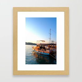 Turkish Waters Framed Art Print