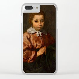 "Diego Velázquez ""Portrait of a Girl in Prayer"" or ""The Virgin Mary as a Child"" Clear iPhone Case"