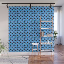 Blue Abstract pattern Wall Mural