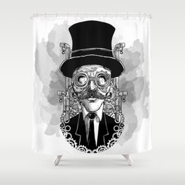 Steampunk Man Shower Curtain