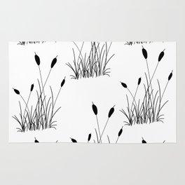 Cattail Silhouette Print Rug