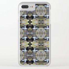 Peekamoose Waterfall Rocks Pattern Clear iPhone Case