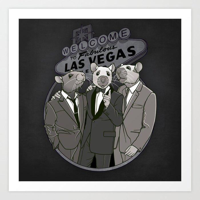 Rat Pack Art Print