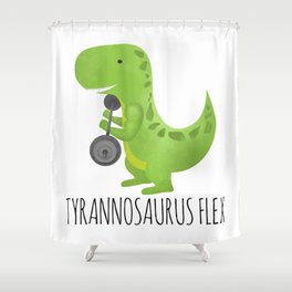 Tyrannosaurus Flex Shower Curtain