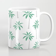 Palm trees tropical minimal ocean seaside socal beach life pattern print Mug