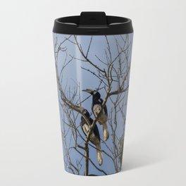 A couple of oriental pied hornbills Travel Mug