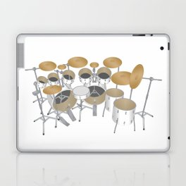 White Drum Kit Laptop & iPad Skin