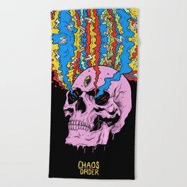 Chaos is my Order Beach Towel
