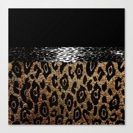 ANIMAL PRINT BLACK AND BROWN Canvas Print