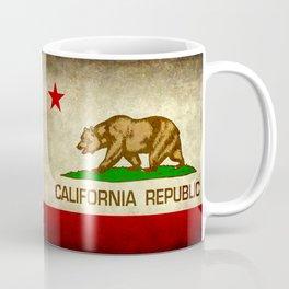 California Republic Retro Flag Coffee Mug
