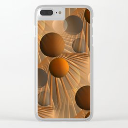 crazy lines and balls -4- Clear iPhone Case