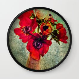 Anemoni Rossi Wall Clock