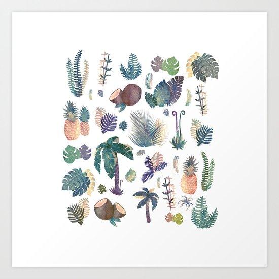 tropical nature pattern!! Art Print