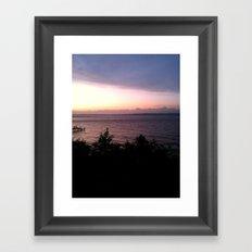 Parted sky Framed Art Print
