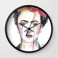 frida Wall Clocks featuring Frida by SirScm